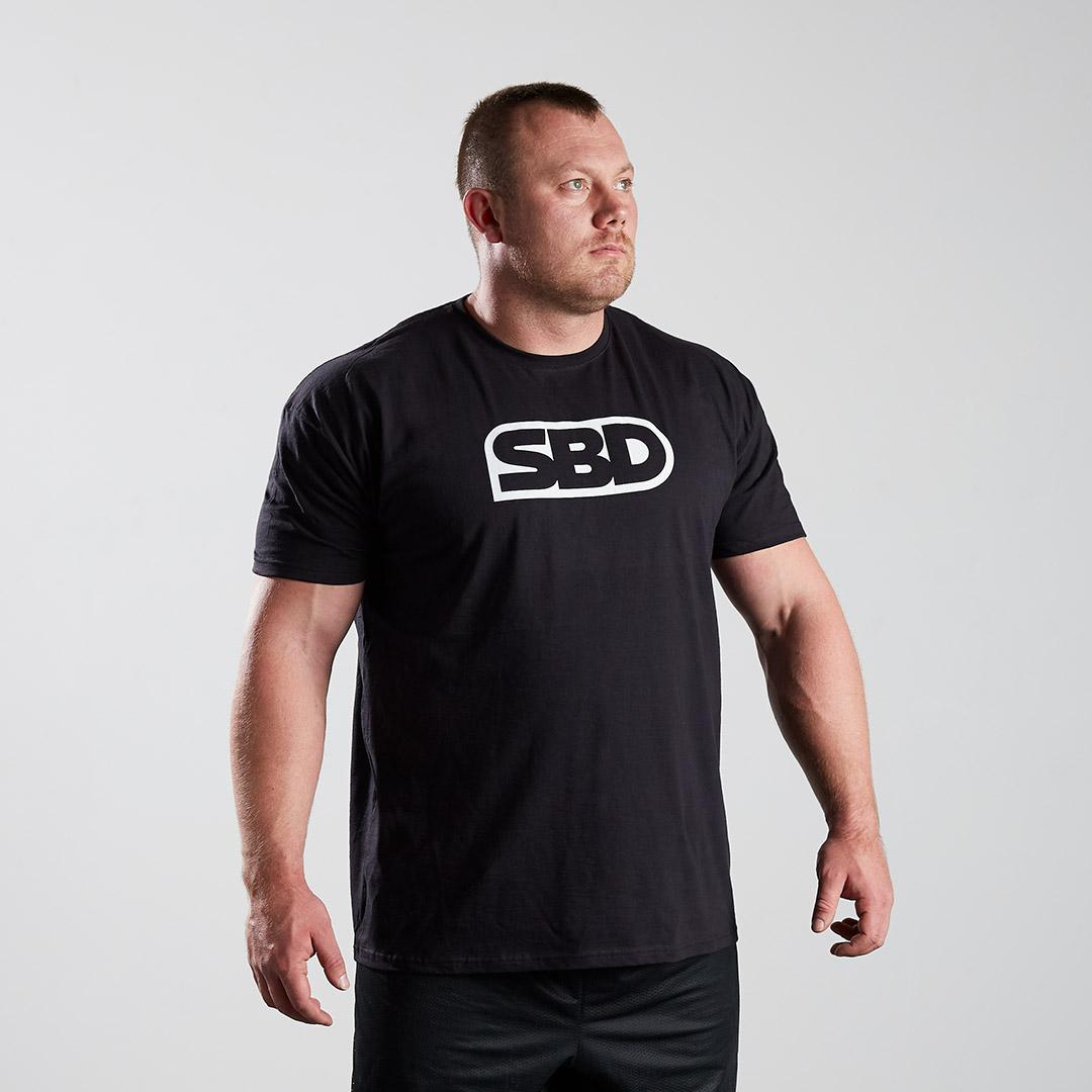 SBD kratka majica - črna z logotipom moška
